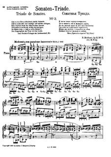 Сонатная Триада для фортепиано, Op.11: No.3 Соната до мажор by Николай Метнер