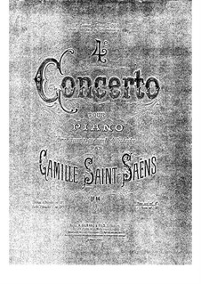 Концерт для фортепиано с оркестром No.4 до минор, Op.44: Версия для двух фортепиано в четыре руки by Камиль Сен-Санс