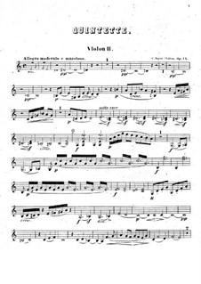 Фортепианный квинтет ля минор, Op.14: Скрипка II by Камиль Сен-Санс