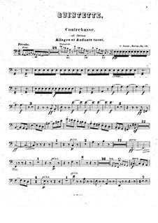 Фортепианный квинтет ля минор, Op.14: Партия контрабаса (ad libitum) by Камиль Сен-Санс