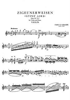 Цыганские напевы, Op.20: Сольная партия by Пабло де Сарасате