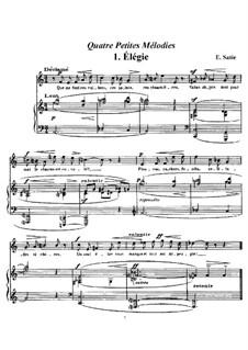 Четыре маленькие мелодии: No.1 Элегия by Эрик Сати