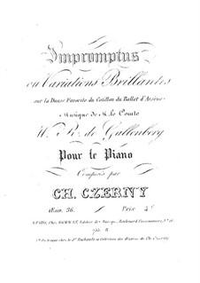 Экспромты или Блестящие вариации, Op.36: Экспромты или Блестящие вариации by Карл Черни
