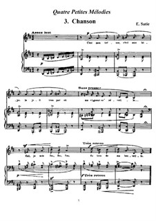 Четыре маленькие мелодии: No.3 Песня by Эрик Сати