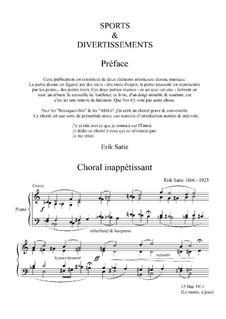 Спорт и развлечения: No.1 Choral inappétissant by Эрик Сати
