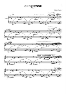 No.4: Для фортепиано by Эрик Сати