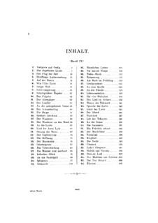 Сборник песен для голоса и фортепиано, Том IV: Сборник песен для голоса и фортепиано, Том IV by Франц Шуберт