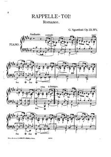 Лирические пьесы, Op.23: Лирические пьесы by Джованни Сгамбатти