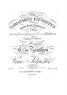 Вариации на тему септета Л. ван Бетховена: Вариации на тему септета Л. ван Бетховена by Vincenz Schuster