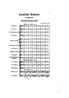 Симфония No.1 'Сельский cвадьба', Op.26: Симфония No.1 'Сельский cвадьба' by Карл Голдмарк