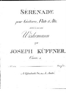 Серенада для флейты, альта и гитары, Op.4: Партии by Йозеф Кюффнер