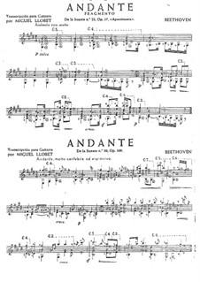 Два анданте, Op.57, 109: Два анданте by Людвиг ван Бетховен