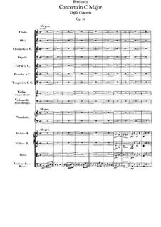 Концерт для скрипки, виолончели и фортепиано с оркестром, Op.56: Партитура by Людвиг ван Бетховен