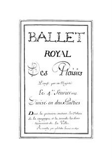 Les plaisirs de l'Île enchantée (La Princesse d'Elide), LWV 22: Партитура by Жан-Батист Люлли