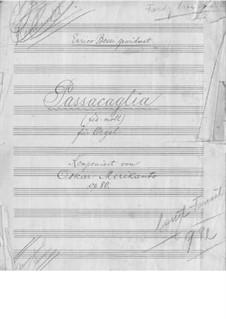 Пассакалия для органа фа-диез минор, Op.80: Пассакалия для органа фа-диез минор by Оскар Мериканто
