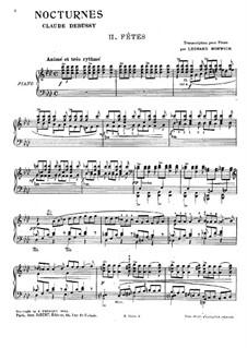 Три ноктюрна, L.91: No.2 Празднества. Переложение для фортепиано by Клод Дебюсси