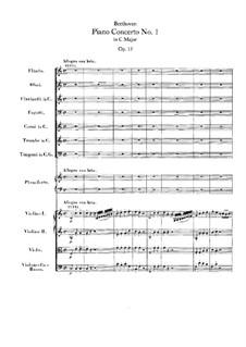Концерт для фортепиано с оркестром No.1, Op.15: Партитура by Людвиг ван Бетховен