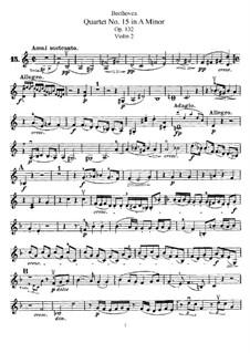 Струнный квартет No.15 ля минор, Op.132: Партия второй скрипки by Людвиг ван Бетховен