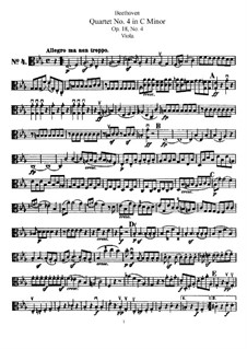 Квартет No.4 до минор: Партия альта by Людвиг ван Бетховен