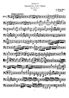 Квартет No.1 фа мажор: Партия виолончели by Людвиг ван Бетховен