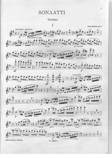 Соната ми минор для скрипки и фортепиано, Op.1: Сольная партия by Toivo Kuula