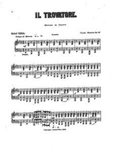 Трубадур. Концертная пьеса: Для фортепиано в четыре руки – партии by Клод Мельнот