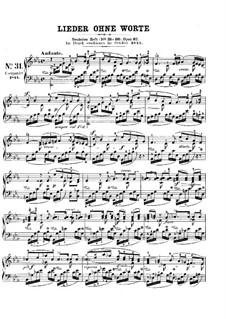 Песни без слов, Op.67: Nr.1 Tröstung by Феликс Мендельсон-Бартольди