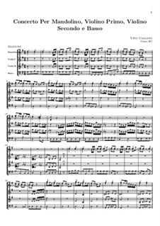 Концерт для мандолины, двух скрипок и бассо континуо: Партитура by Вито Уголино