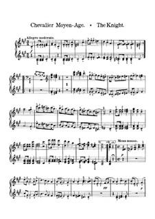 Венгерские эскизы, Op.24: No.6 The Knight – piano I part by Роберт Фолькманн