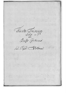 Соло соль мажор для флейты и бассо континуо: Соло соль мажор для флейты и бассо континуо by Herman Friedrich Voltmar