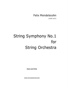 String Symphony No.1 in C Major: String Symphony No.1 in C Major by Феликс Мендельсон-Бартольди