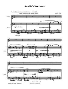 Amelia's Nocturne: Клавир с вокальной партией by Chris Wind