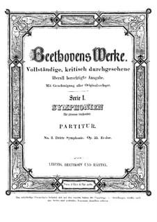 Симфония No.3 'Героическая', Op.55: Партитура by Людвиг ван Бетховен