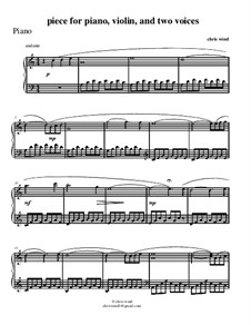 Piece for piano, violin and two voices: Партия фортепиано by Chris Wind