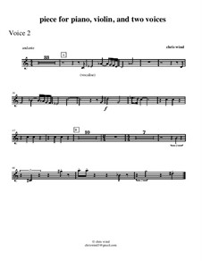 Piece for piano, violin and two voices: Voice 2 part by Chris Wind