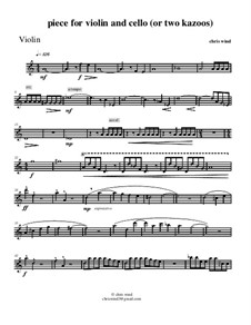 Piece for violin and cello or two kazoos: Партия скрипки by Chris Wind