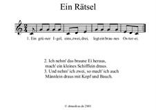 Vier Kinderlieder: Vier Kinderlieder by folklore