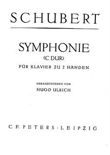 Симфония No.9 до мажор 'Большая', D.944: Аранжировка для фортепиано by Франц Шуберт