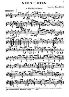 Девять сюит для гитары: Девять сюит для гитары by Людовико Ронкалли