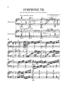 Фрагменты: Части I-II. Версия для двух фортепиано в четыре руки by Людвиг ван Бетховен