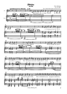 Ekhidna: Piano-vocal score, Op.170 by Klaus Miehling