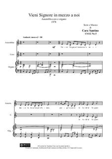 Vieni Signore in m...a coro e organo, CS112 No.5: Vieni Signore in m...a coro e organo by Santino Cara