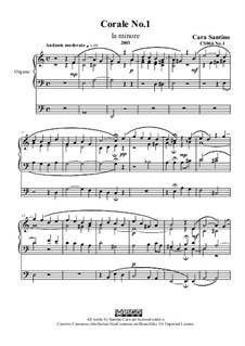 Choral in a minor, CS066 No.1: Choral in a minor by Santino Cara