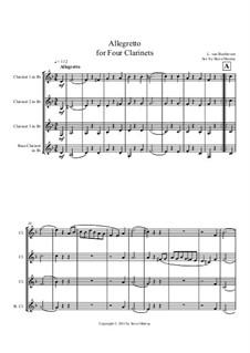 Allegretto for Four Clarinets: Партитура by Людвиг ван Бетховен