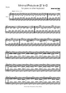 Minimal Prelude No.27: Minimal Prelude No.27 by Jeroen Van Veen