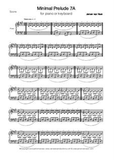 Minimal Prelude No.7A: Minimal Prelude No.7A by Jeroen Van Veen