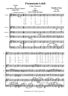 Fermarono i cieli: For SATB a cappella, CS155 by Santino Cara