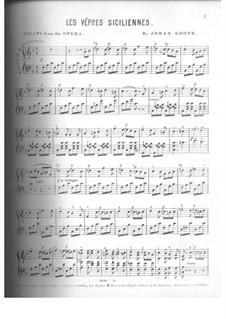 Сицилийская вечерня: Фрагмент для фортепиано by Джузеппе Верди