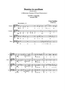Domine, in auxilium. SATB a cappella, CS160 No.2: Domine, in auxilium. SATB a cappella by Santino Cara