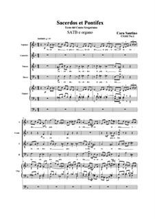 Sacerdos et Pontifex. SATB e organo, CS163 No.1: Sacerdos et Pontifex. SATB e organo by Santino Cara